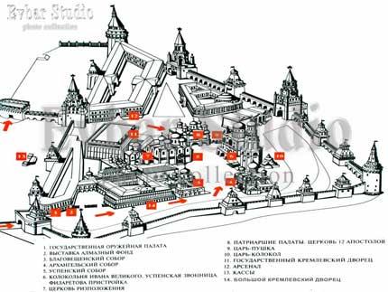 План, карта Кремля, фото обои